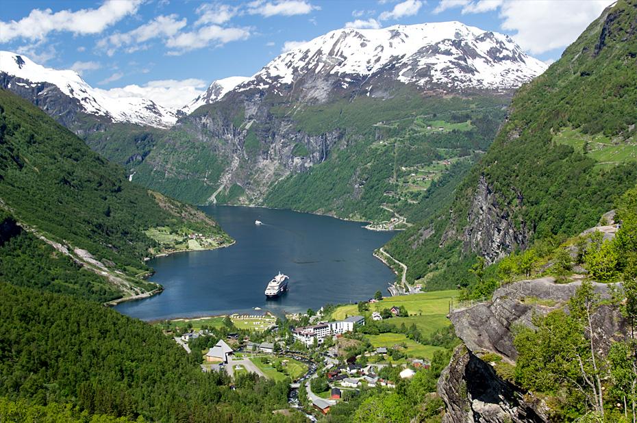 Blick auf Geiranger Fjord