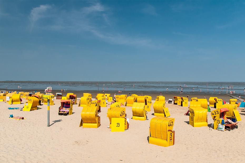Strandkörbe in Duhnen, Cuxhaven