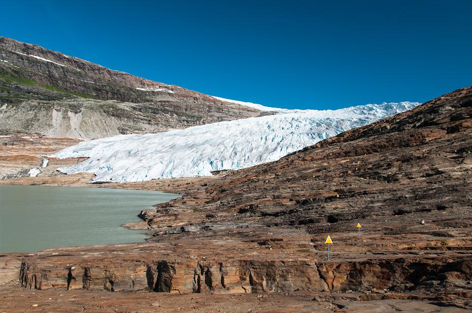 Der Austerdalsisen, einer der Gletscherarme des Svartisen