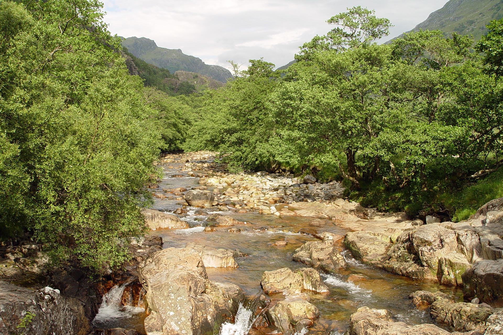 Fluss im Glencoe