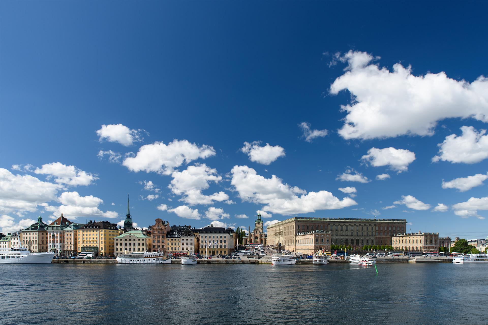 Blick auf das Schloss von Stockholm