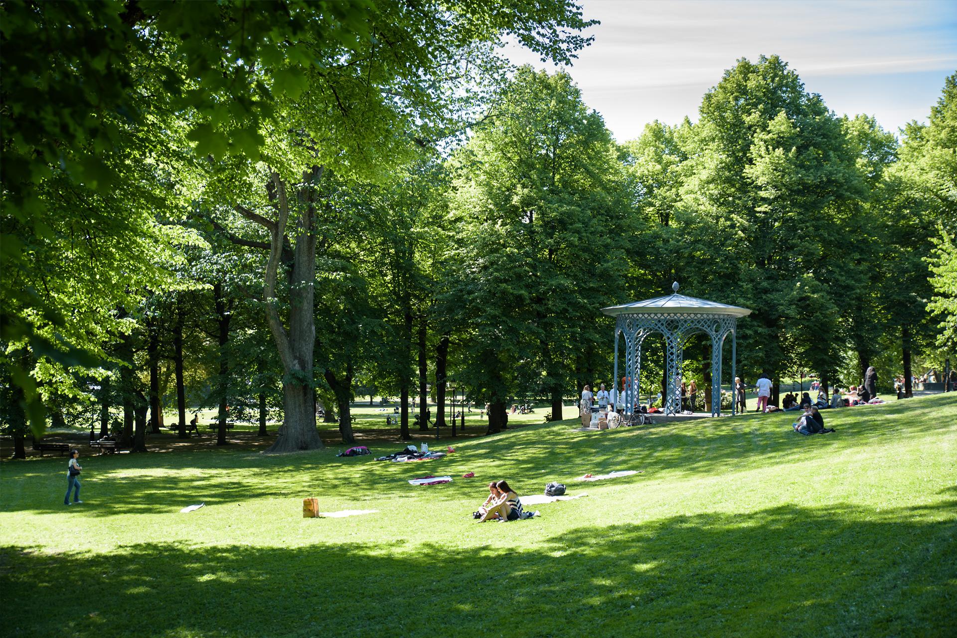 Stockholm ist eine sehr grüne Stadt mit vielen Parks