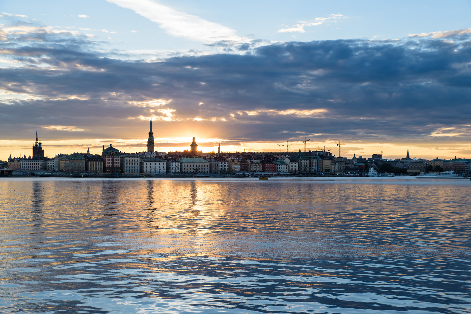 Sonnenuntergang von der Fotografiska aus gesehen