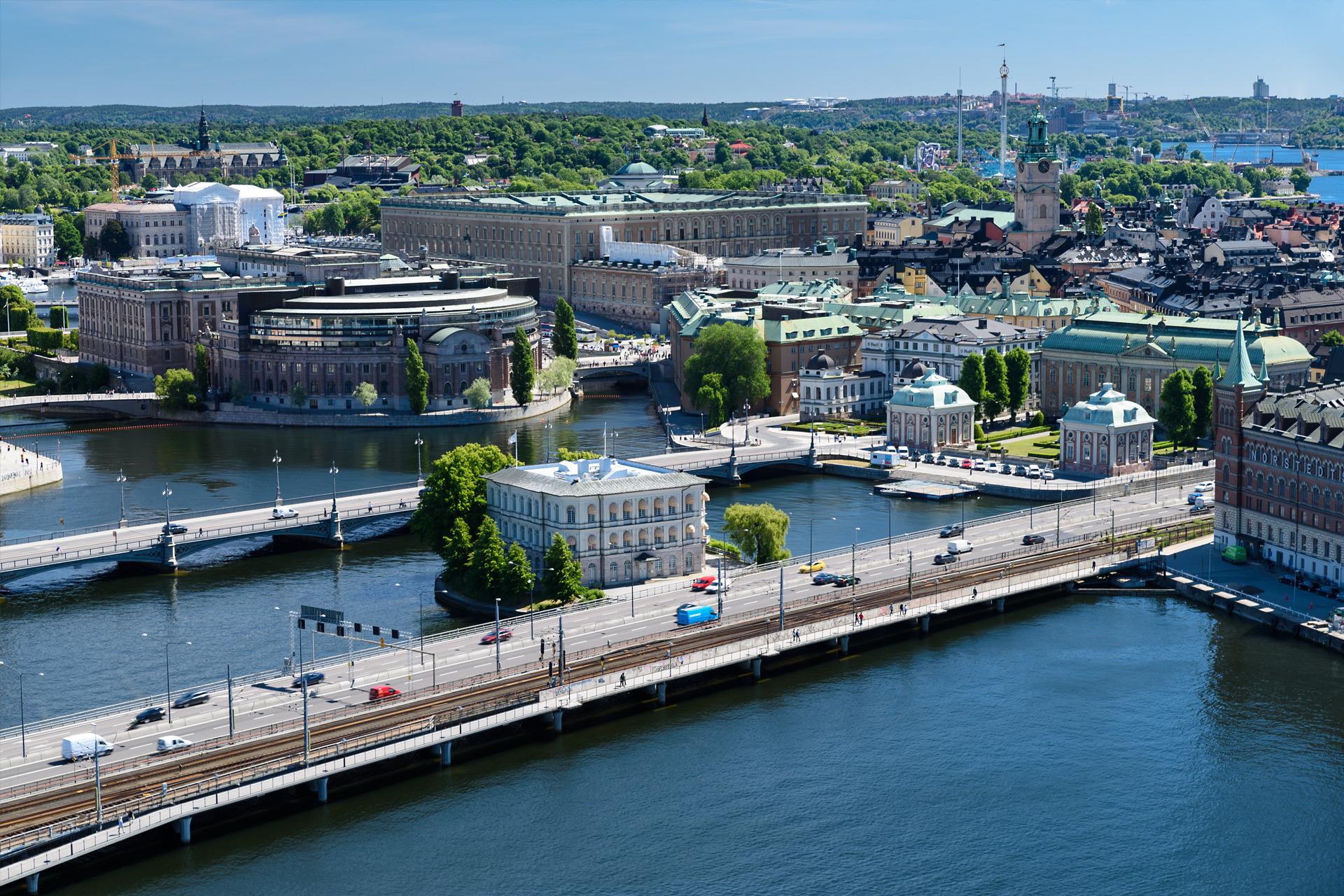 Blick vom Stockholmer Rathaus