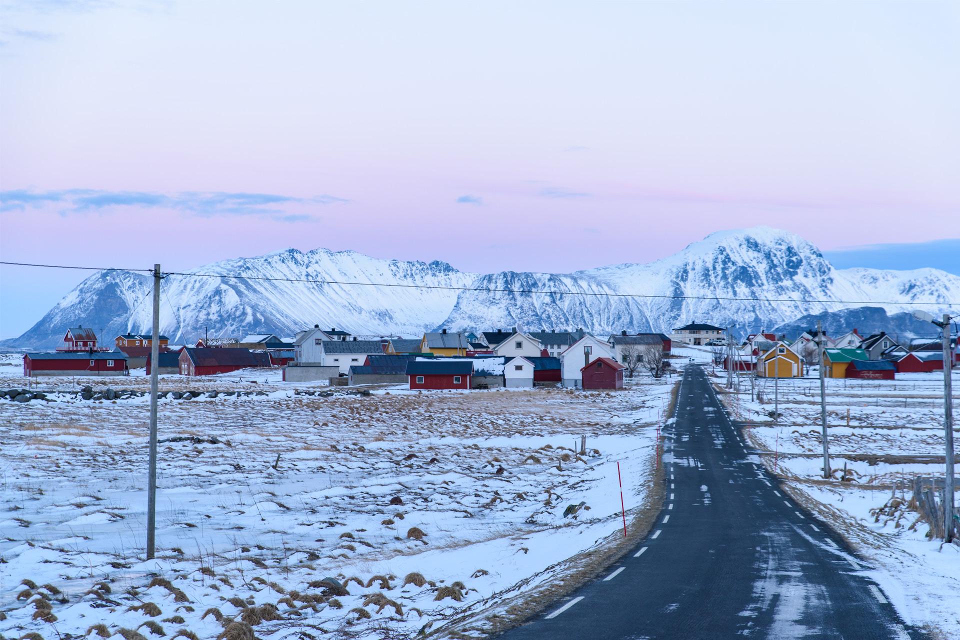 Abgelegene Siedlung auf den Lofoten
