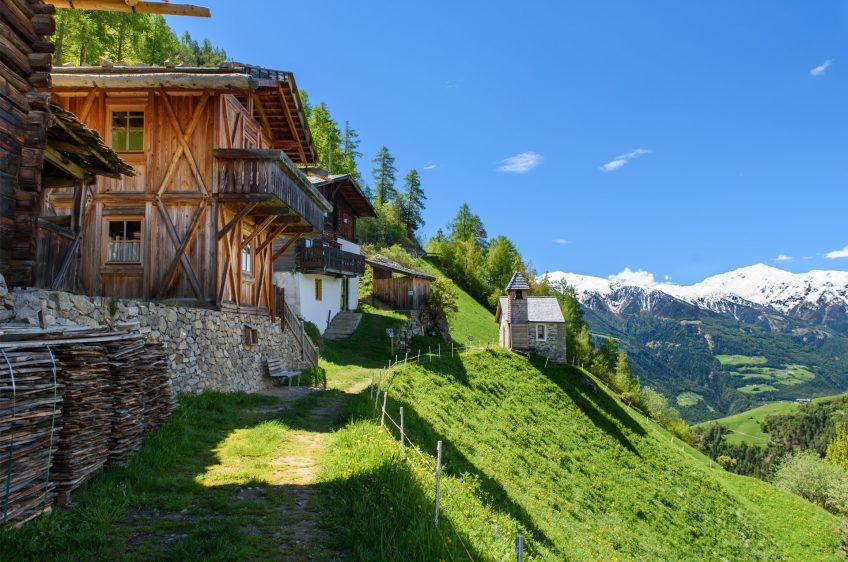 Hütten im Vinschgau