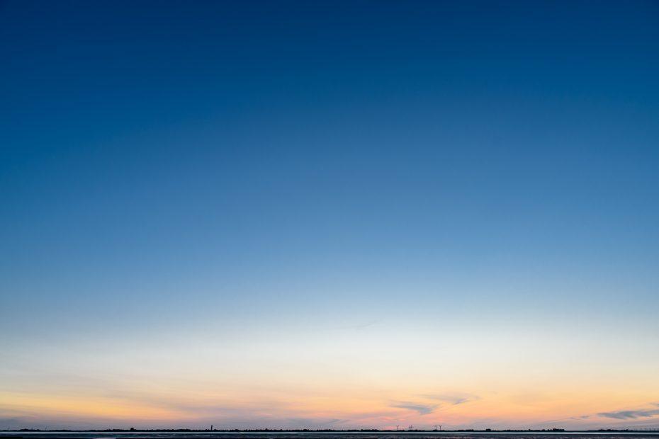 Abenddämmerung über Nordstrand